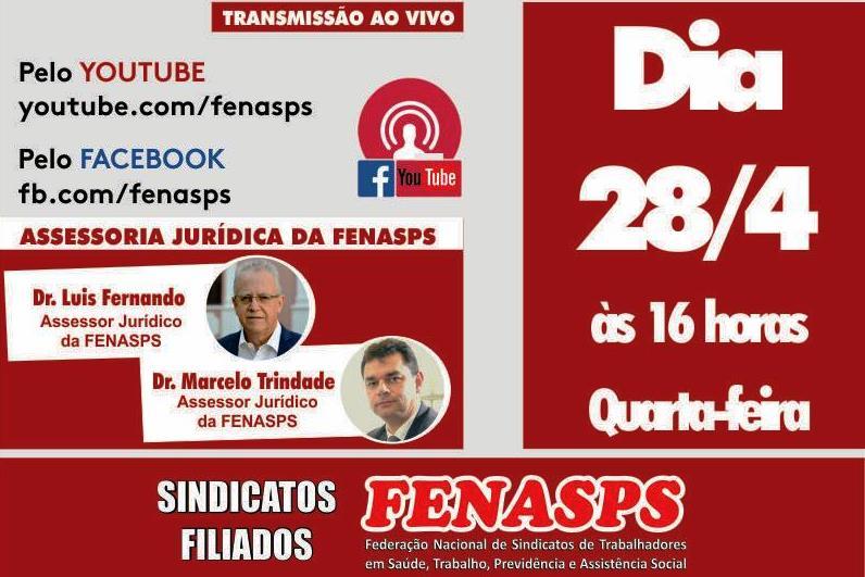 Live: Jurídico da Fenasps debate contrarreformas e produtivismo